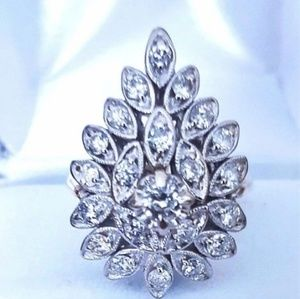 Jewelry - Gold Diamond Vintage Estate Antique Diamond Ring